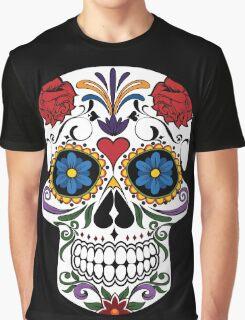 Colorful Sugar Skull Graphic T-Shirt