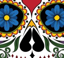 Colorful Sugar Skull Sticker