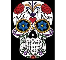Colorful Sugar Skull Photographic Print