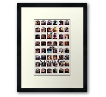Wall of pictures Framed Print