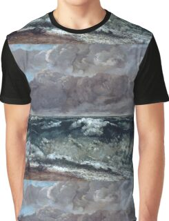 Gustave Courbet - The Wave 1867 - 1869, Seascape Graphic T-Shirt
