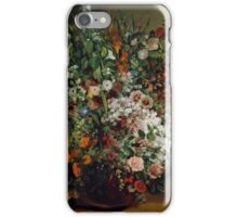 Gustave Courbet - Bouquet of Flowers in a Vase 1862 , Still Life iPhone Case/Skin