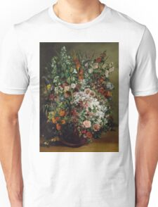 Gustave Courbet - Bouquet of Flowers in a Vase 1862 , Still Life Unisex T-Shirt