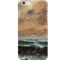 Gustave Courbet - Autumn Sea 1867 , Seascape iPhone Case/Skin
