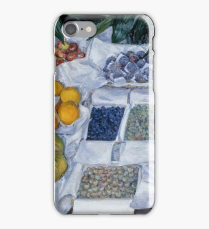 Gustave Caillebotte - Fruit Displayed on a Stand about 1881 - 1882 iPhone Case/Skin