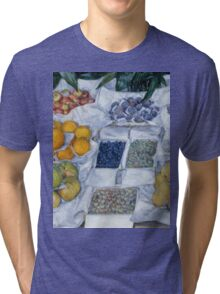 Gustave Caillebotte - Fruit Displayed on a Stand about 1881 - 1882 Tri-blend T-Shirt
