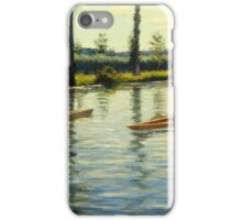 Gustave Caillebotte - Boating on the Yerres Perissoires sur l Yerres 1877 iPhone Case/Skin