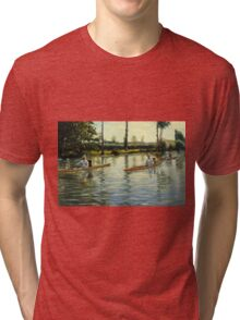 Gustave Caillebotte - Boating on the Yerres Perissoires sur l Yerres 1877 Tri-blend T-Shirt