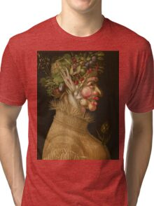 Giuseppe Arcimboldo - Summer 1563 , Fashion Portrait, Italian Handsome Man. Tri-blend T-Shirt