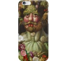 Giuseppe Arcimboldo - Rudolf II of Habsburg as Vertumnus 1590 , Fashion Portrait, Italian Handsome Man. iPhone Case/Skin