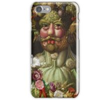 Giuseppe Arcimboldo - Rudolf II of Habsburg as Vertumnus 1590 , Fashion Portrait, Italian Handsome Man. iPhone Case/Skin