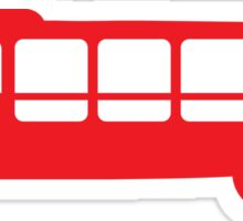 Single RED Bus Sticker