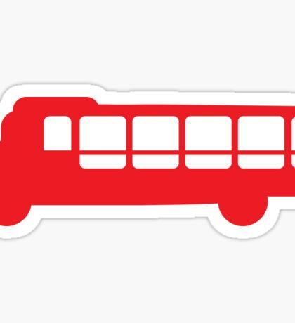 Single RED Bus Sticker