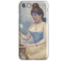 Georges Seurat  - Young Woman Powdering Herself 1889 iPhone Case/Skin