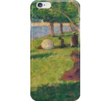Georges Seurat  - Seated Figures, Study for A Sunday Afternoon on the Island of La Grande Jatte 1884 - 1885 iPhone Case/Skin