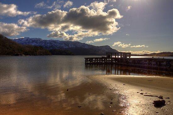 Sunshine Jetty on Loch Morar by derekbeattie