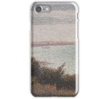 Georges Seurat  - Grandcamp, Evening 1885 iPhone Case/Skin