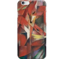 Franz Marc - The Foxes 1913 German Expressionism ,  Fashion Portrait iPhone Case/Skin