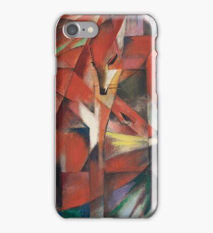 Franz Marc - The Foxes 1913 German Expressionism ,  Fashion Portrait iPhone Case/Skin
