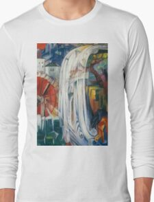 Franz Marc - The Bewitched Mill 1913  Landscape  Long Sleeve T-Shirt
