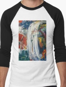 Franz Marc - The Bewitched Mill 1913  Landscape  Men's Baseball ¾ T-Shirt