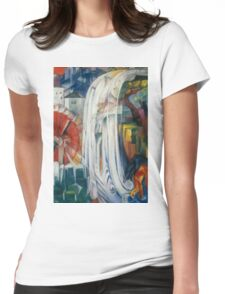 Franz Marc - The Bewitched Mill 1913  Landscape  Womens Fitted T-Shirt