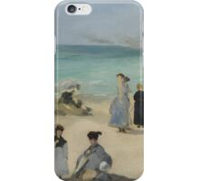 Edouard Manet - On the Beach, Boulogne-sur-Mer 1868 , Impressionism  Seascape  iPhone Case/Skin