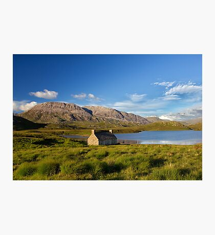 Abandoned Highland Scotland Croft House Photographic Print