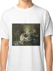 Edouard Manet - Luncheon on the Grass 1863 , French  Impressionism ,  Landscape  Classic T-Shirt