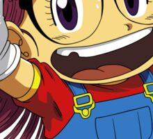 Arale Jump Sticker