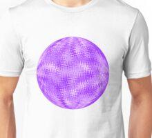 Purple Ripple Intricate Organic Design Unisex T-Shirt