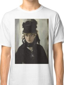 Edouard Manet - Berthe Morisot With a Bouquet of Violets 1872 , French Impressionism , Woman , Fashion ,  Portrait  Classic T-Shirt