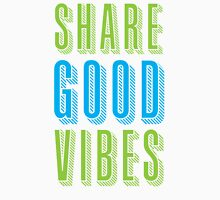 ShARE GOOD VIBES Womens Fitted T-Shirt