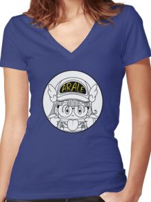 Arale Dr Slump Women's Fitted V-Neck T-Shirt