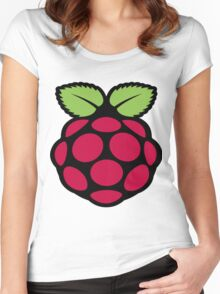 raspberry logo Women's Fitted Scoop T-Shirt