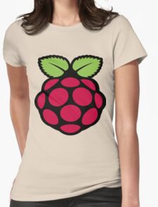 raspberry logo Womens Fitted T-Shirt