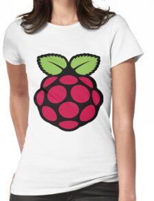 raspberry logo Womens Fitted T-Shirt