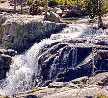 Lake Tahoe Waterfall  by Mike Pesseackey (crimsontideguy)