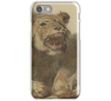 Cornelis Saftleven - A Lion Snarling  Friend  Young  Fashion   Smile  Happy iPhone Case/Skin