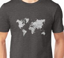 world map mandala tribal patterns illustration Unisex T-Shirt