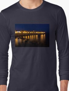 Royal Blue and Gold - Syracuse, Sicily from the Sea Promenade Long Sleeve T-Shirt