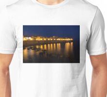 Royal Blue and Gold - Syracuse, Sicily from the Sea Promenade Unisex T-Shirt