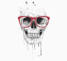 Skull with red glasses Baby Tee