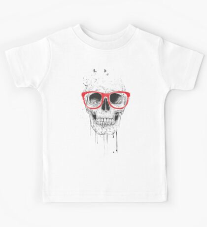 Skull with red glasses Kids Tee
