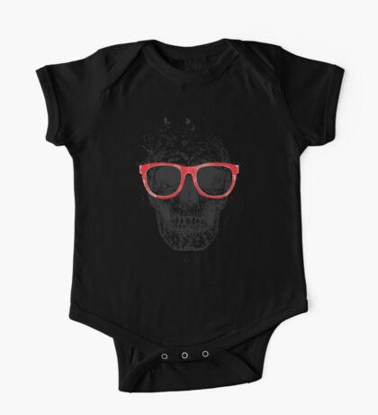 Skull with red glasses One Piece - Short Sleeve