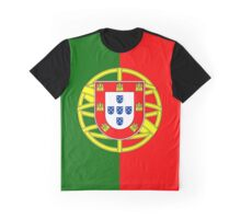 Portugal/Portuguese Flag Graphic T-Shirt