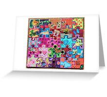 Puzzle color Greeting Card