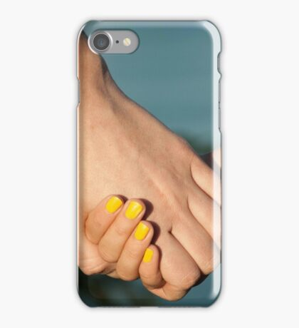 The mother holds the hand of her daughter  iPhone Case/Skin