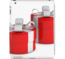 two red gift boxes with white ribbon  iPad Case/Skin