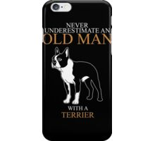 Old Man With Terrier iPhone Case/Skin